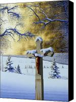 Egg Tempera Canvas Prints - Mea Culpa Canvas Print by Conrad Mieschke