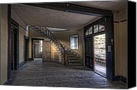 Staircase Canvas Prints - Meade Hotel Lobby - Bannack Montana Canvas Print by Daniel Hagerman