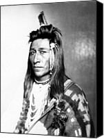 1890s Portrait Canvas Prints - Measaw Of The Shoshone Nation. Ca 1899 Canvas Print by Everett