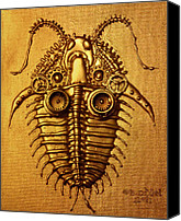 Machine Reliefs Canvas Prints - Mecha-Trilobite 3 Canvas Print by Baron Dixon