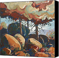 Mjonesart Canvas Prints - Medicine Park Canvas Print by Micheal Jones