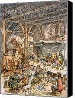Manor Canvas Prints - Medieval Dining Hall Canvas Print by Granger