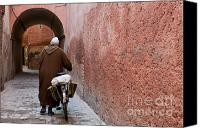 Morocco Canvas Prints - Medina man Canvas Print by Marion Galt