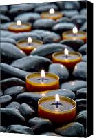 Spiritual Photo Canvas Prints - Meditation Candles Canvas Print by Olivier Le Queinec