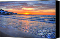 Sitges Canvas Prints - Mediterranean Sunrise Canvas Print by Richard Fairless