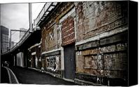 Kelly Digital Art Canvas Prints - Melbourne Alley Canvas Print by Kelly Jade King