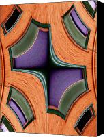 Abstract Building Canvas Prints - Melded Windows Canvas Print by Tim Allen