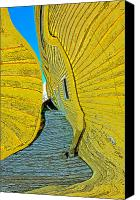 Terry Digital Art Canvas Prints - Mellow Yellow Canvas Print by Terry Anderson