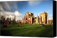 Ruin Canvas Prints - Melrose Abbey Canvas Print by Grant Glendinning