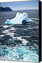 Meltdown Canvas Prints - Melting iceberg Canvas Print by Elena Elisseeva