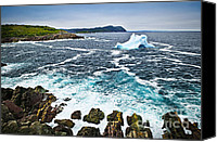 Meltdown Canvas Prints - Melting iceberg in Newfoundland Canvas Print by Elena Elisseeva