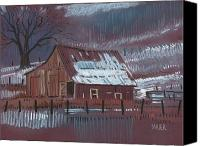 Barn Pastels Canvas Prints - Melting Snow Canvas Print by Donald Maier