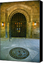 Entrance Door Canvas Prints - Memorial Hall I Canvas Print by Steven Ainsworth