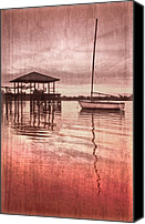 Florida Bridge Canvas Prints - Memories Canvas Print by Debra and Dave Vanderlaan