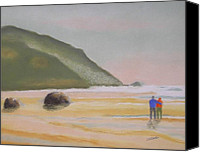 Oregon Coast Pastels Canvas Prints - Memories Canvas Print by Ron LaRue