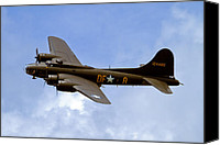 Warbird Photo Canvas Prints - Memphis Belle Canvas Print by Bill Lindsay