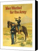 Soldier Painting Canvas Prints - Men Wanted For The Army Canvas Print by War Is Hell Store