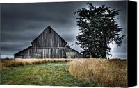 Mendocino Coast Canvas Prints - Mendocino Barn Canvas Print by Joan McDaniel