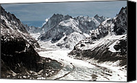 Mountains Canvas Prints - Mer de Glace - Mont Blanc Glacier Canvas Print by Frank Tschakert