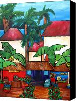 Comtemporary Canvas Prints - Mercado en Puerto Rico Canvas Print by Patti Schermerhorn