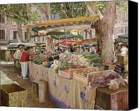 Market Canvas Prints - Mercato Provenzale Canvas Print by Guido Borelli
