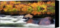 Autumn Scenes Canvas Prints - Merced River Autumn Canvas Print by Floyd Hopper