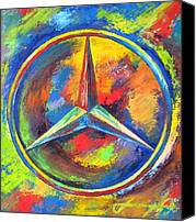 Transportation Mixed Media Canvas Prints - MERCEDES BENZ - The BEST or NOTHING Canvas Print by Dan Haraga