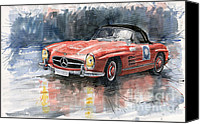 Auto Canvas Prints - Mercedes Benz 300SL Canvas Print by Yuriy  Shevchuk