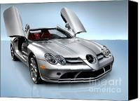 Sportscars Photo Canvas Prints - Mercedes Benz SLR McLaren Canvas Print by Oleksiy Maksymenko
