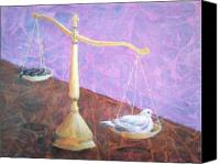 Justice Painting Canvas Prints - Merciful Canvas Print by Arlissa Vaughn