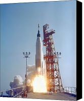 Success Photo Canvas Prints - Mercury-atlas 9 Lifts Canvas Print by Stocktrek Images