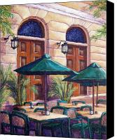 Tropical Plants Canvas Prints - Merida Cafe Canvas Print by Candy Mayer