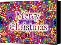 Holiday Cheer Canvas Prints - Merry Christmas Canvas Print by Robert Orinski