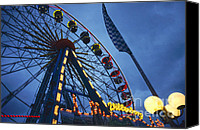 Roundabout Canvas Prints - Merry-go-round on Hamburg Dom Canvas Print by Heiko Koehrer-Wagner