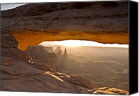 Mesa Arch Canvas Prints - Mesa Arch Dawn Canvas Print by Jim Chamberlain