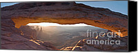 Mesa Arch Canvas Prints - Mesa Arch Panorama Canvas Print by Jim Chamberlain