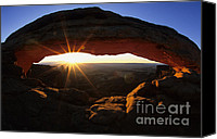 Mesa Arch Canvas Prints - Mesa Arch Sunrise Canvas Print by Bob Christopher