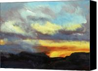 Rafael Gonzales Canvas Prints - Mesa Sunset Canvas Print by Rafael Gonzales
