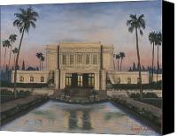 Lds Canvas Prints - Mesa Temple Canvas Print by Jeff Brimley