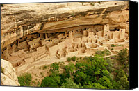 National Parks Canvas Prints - Mesa Verde Cliff Dwelling Canvas Print by Sean Cupp