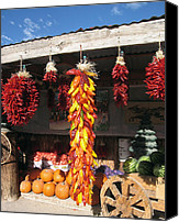 Ristra Canvas Prints - Mesilla Valley Harvest Canvas Print by Kurt Van Wagner