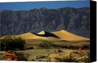 Death Valley National Park Canvas Prints - Mesquite Flat Dunes - Death Valley California Canvas Print by Christine Till