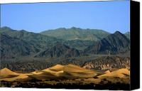 Death Valley National Park Canvas Prints - Mesquite Flat Sand Dunes - Death Valley National Park CA USA Canvas Print by Christine Till