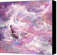 Fantasy Canvas Prints - Message in a Bottle Canvas Print by Rachel Christine Nowicki