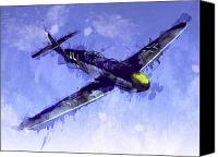 Airplane Canvas Prints - Messerschmitt Bf 109 Canvas Print by Michael Tompsett