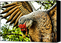 Predatory Canvas Prints - Metal Bird Canvas Print by Cheryl Young