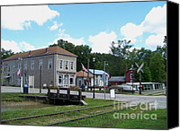 Metamora Indiana Canvas Prints - Metamora Canal House Canvas Print by Charles Robinson