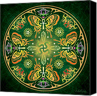 Psychedelic Canvas Prints - Metamorphosis Mandala Canvas Print by Cristina McAllister