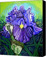 Kinetic Canvas Prints - Metaphysical Iris Canvas Print by Genevieve Esson