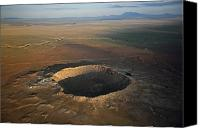 Disasters Canvas Prints - Meteor Crater Is The Best Preserved Canvas Print by Stephen Alvarez